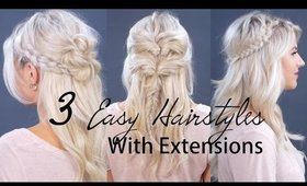 3 Easy Short Hairstyles with Hair Extensions | Milabu