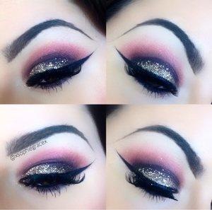 Using anastasia Beverly Hills tammana palette, Mac pigment and glitter, illamasqua gel liner and Mac lashes ❤️❤️