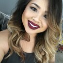 Simple smokey eye with bold lips