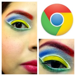"""This is the first look of my """"web browser makeup inspiration"""" project."""