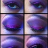 Purple & Pink Glitter Look