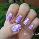 Purple & White Water Marble
