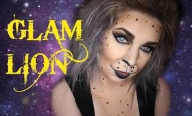Glam Lion Halloween Makeup