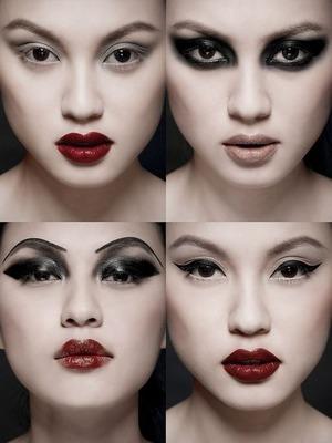 Professional photos of a Korean model's makeup