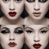 Korean Black and Red Makeup