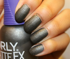 Iron Butterfly.  It's a dark gunmetal grey with a suede finish.  Such a beautiful polish. ♥