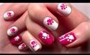 ♥ HOW TO: Hello Kitty Inspired Nails! Easy Nail Polish Art For Short Nails Tutorial ♥