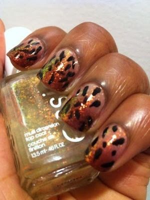 This was my first ever animal print mani and I love it to this day! Details in my blog post: http://www.polish-obsession.com/2012/09/leopard-print.html