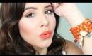 Neutral eyes Orange Lips! | Spring 2014 {beginner friendly}