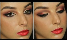 Red & Gold Indian Bridal Inspired Makeup Tutorial ♥