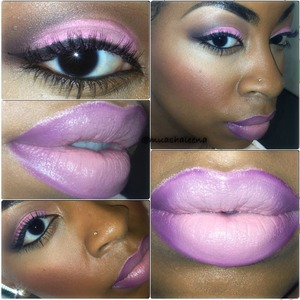 I used the pink shadow from my Coloured Raine Pastel nuances palette . My lipstick is by wet n wild fergie collection, fergie daily. I used Nightmoth Lipliner . Be sure to follow me on Instagram to view my daily makeup pics @muashaleena