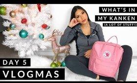 Vlogmas #5! What's in my Kanken (everyday backpack)