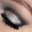 Silver glitter cut-crease