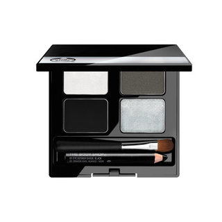 The Body Shop 4-Step Smoky Eyes Palette- Silver Black