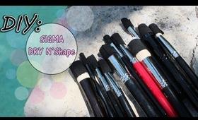 ♡ DIY: Makeup Brush Dryer With Elastic & Hot Glue Gun {Sigma Easy DUPE}