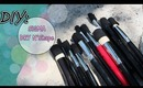 ♡ DIY: Makeup Brush Dryer With Elastic & Hot Glue Gun {Sigma Easy DUPE}