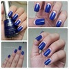 Royal Blue and Peach Ruffian Nails