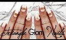 Triangle Glam Nails   Cut Out ♡