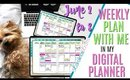 Digital Plan with me this week June 2 to 8, How i'm Setting Up Weekly Digital Plan With Me June 2