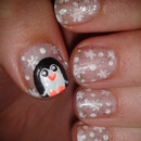 Penguin Winter Nailart Design