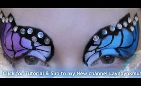 Butterfly Tutorial available on my New Channel Laydpynkmua
