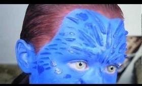 X-Men Mystique Makeup Tutorial