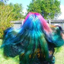 multi coloured hair