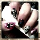 Diagonal Nails with mixmatched designs