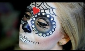 HALLOWEEN: Glam Sugar Skull Makeup Tutorial