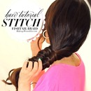 "How to "" STITCH"" Fishtail Braid Your Hair Tutorial Video 