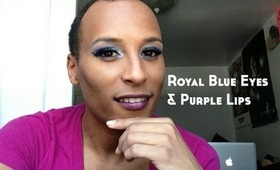 Royal Blue Eyes & Purple Lips