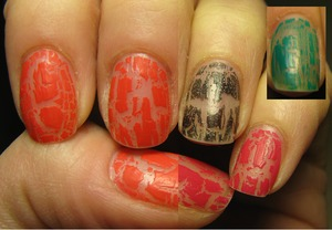 This is a mix of my last days of crackle polish! ^_^ PS Sorry 'bout my poor skills with Paint...