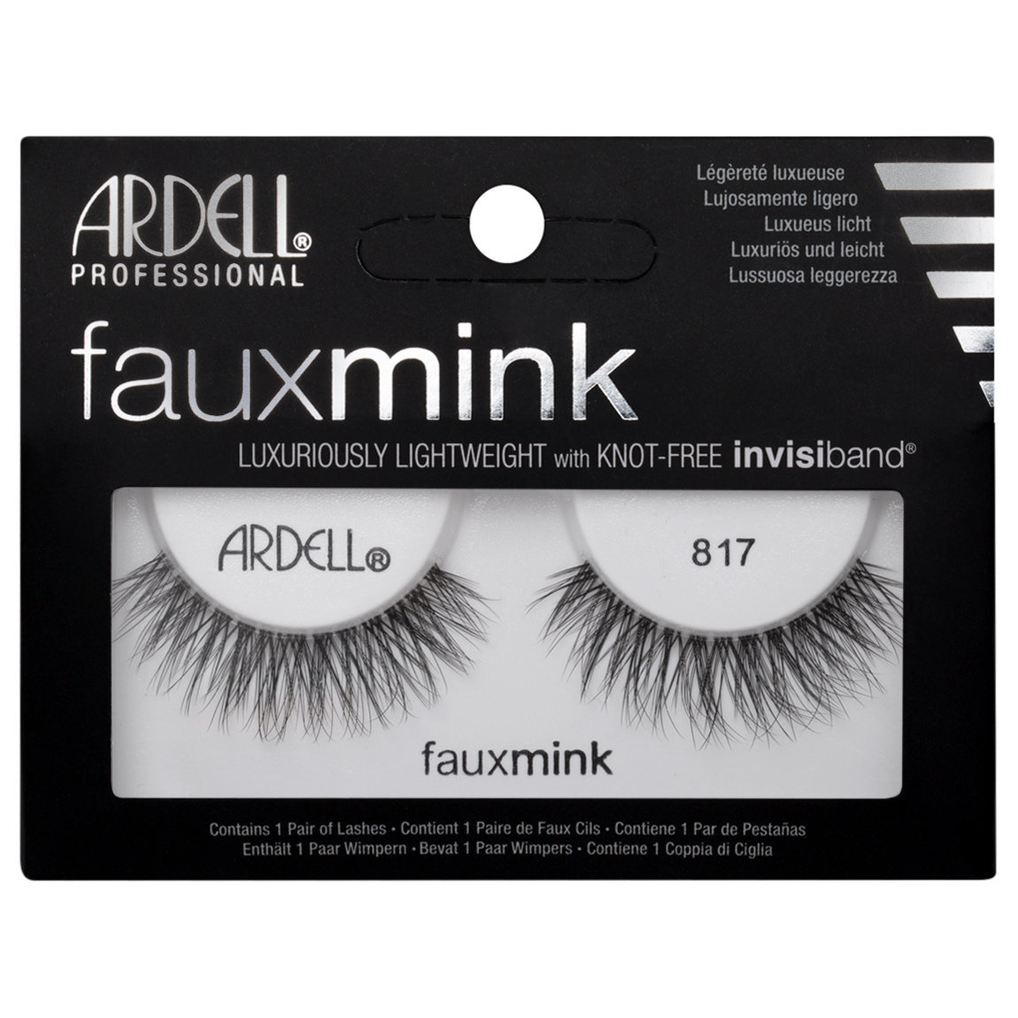 Ardell Faux Mink Lashes 817 Black ...