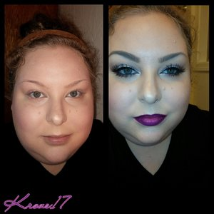 Before and after. I look weird without glasses but hey! We all don't wake up looking like rock super stars. ??? Details for this look in previous posts.   #beforeandafter #transformation #beauty #beautyproducts #beautyshot #cosmetics #makeup #makeuplook #makeuptrends #instabeauty #instamakeup #kroze17