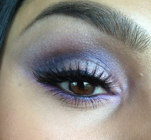 Quick purple and pink smokey eye using some crushed MAC pigments. Tutorial of this look can be found at www.youtube.com/whoreswearrouge :)