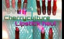Cherry culture lipstick haul + swatches