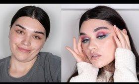 0 To 100 Glam using Huda Beauty Mercury Retrograde palette