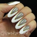 Glitter triangles on white