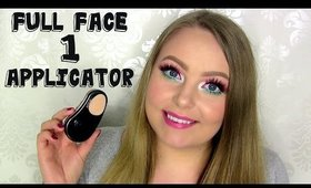 Full Face using only 1 Applicator - Color Me Automatic Foundation Applicator