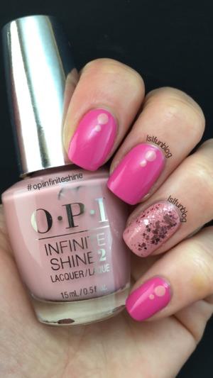 #opiinfiniteshine Nail Art www.lslfun.blogspot.com