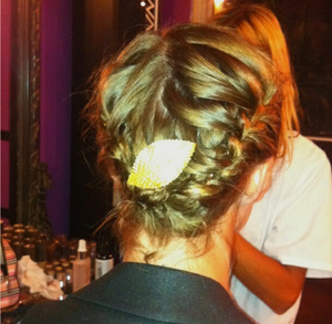 gold leave to connect the french braids