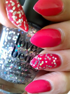 💎easy glitter accent nails💅