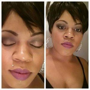 Heroine lipstick black opal foundation Black Radiance blush