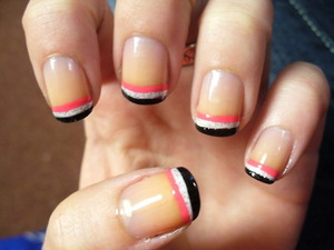 Striped French Tip!