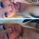White eye shadow w/faux lashes