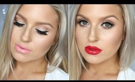Simple Girly Christmas Look! ♡ Subtle Festive Glitter ♡ PERFECT For Summer!