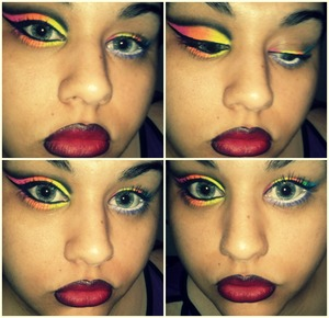 I was at home, feeling bored! So I just ended up doing this (O_O)