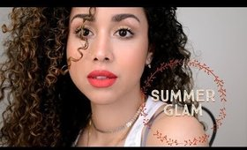 Fresh Summer Glam Makeup: Glowing Skin and Bright Lips
