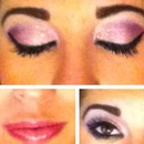 Spring fever pink and purple eyes and ombré lips