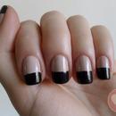 Bicolor nails